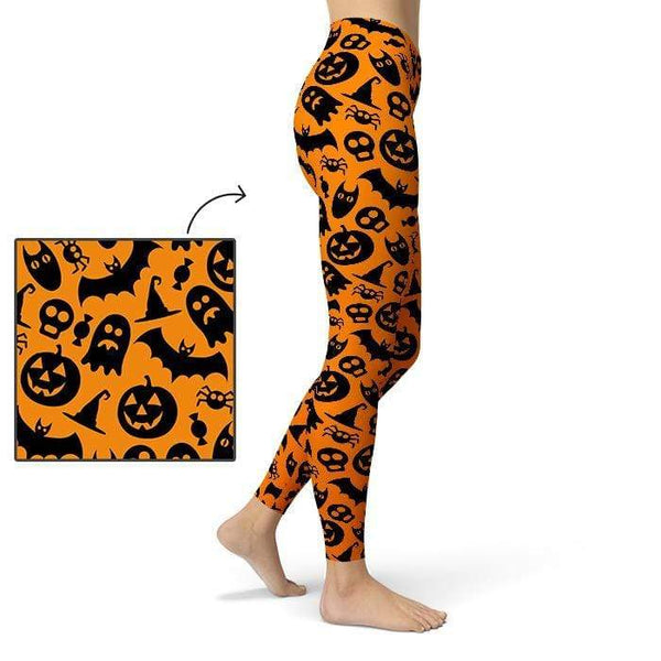 Ghostly Leggings Pants CustomCat X-Small