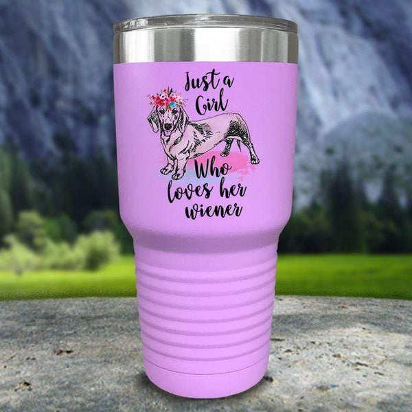 A Girl Who Loves Her Weiner Color Printed Tumblers Tumbler Nocturnal Coatings 30oz Tumbler Lavender