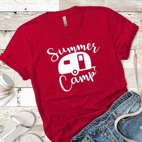 Summer Camp Premium Tees T-Shirts CustomCat Red X-Small