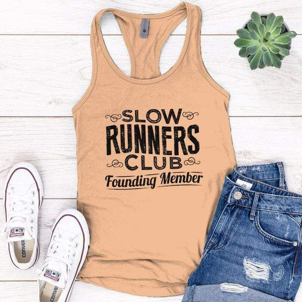Slow Runners Premium Tank Tops Apparel Edge Light Orange S
