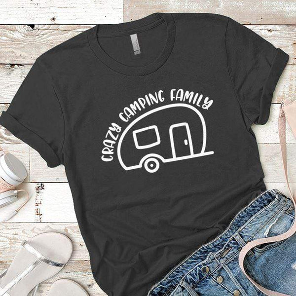 Crazy Camping Family Premium Tees T-Shirts CustomCat Heavy Metal X-Small