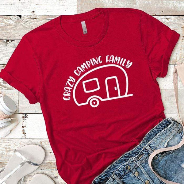 Crazy Camping Family Premium Tees T-Shirts CustomCat Red X-Small