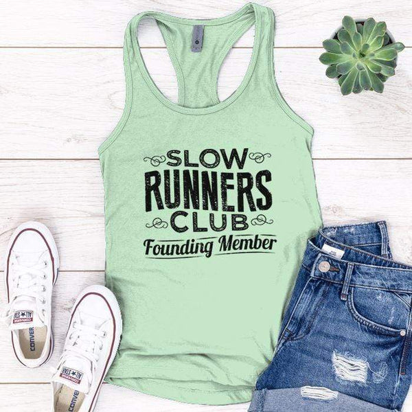 Slow Runners Premium Tank Tops Apparel Edge Minty S