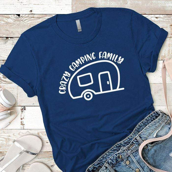 Crazy Camping Family Premium Tees T-Shirts CustomCat Royal X-Small