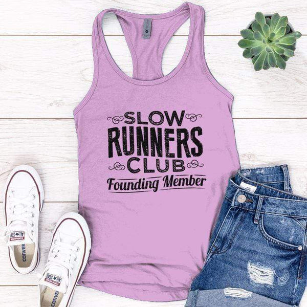 Slow Runners Premium Tank Tops Apparel Edge Lilac S