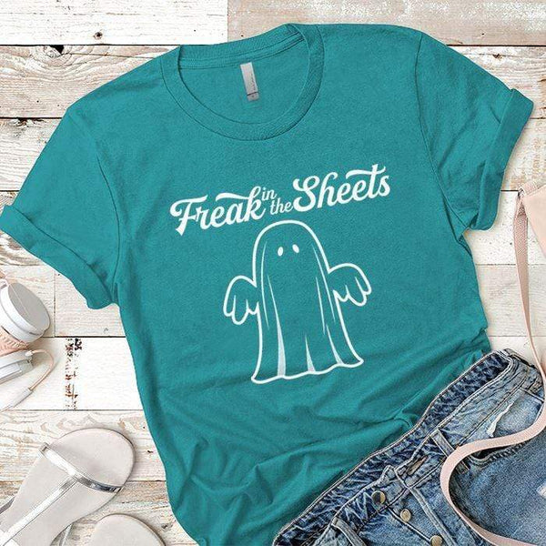 Freak In The Sheets Premium Tees T-Shirts CustomCat Tahiti Blue X-Small