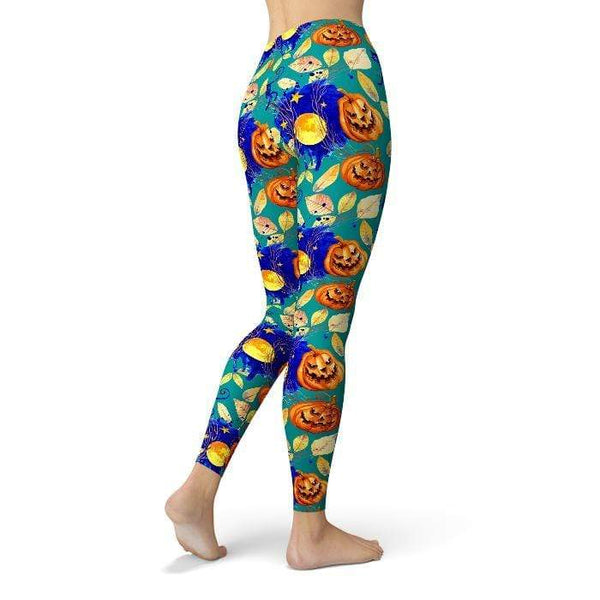 Halloween All Day Leggings Pants CustomCat
