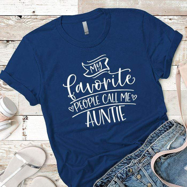Call Me Auntie Premium Tees T-Shirts CustomCat Royal X-Small