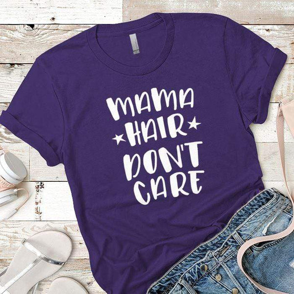 Mama Hair Premium Tees T-Shirts CustomCat Purple Rush/ X-Small