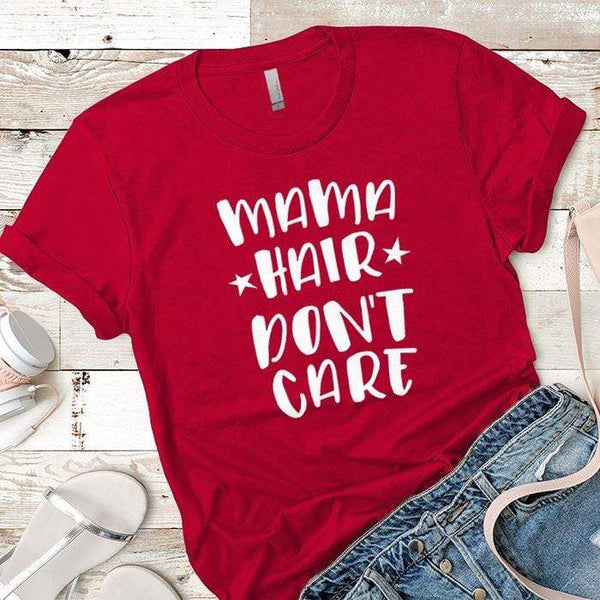 Mama Hair Premium Tees T-Shirts CustomCat Red X-Small