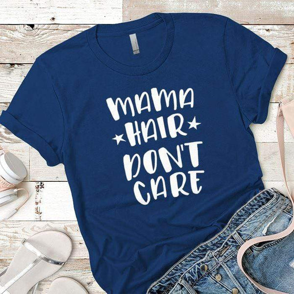 Mama Hair Premium Tees T-Shirts CustomCat Royal X-Small