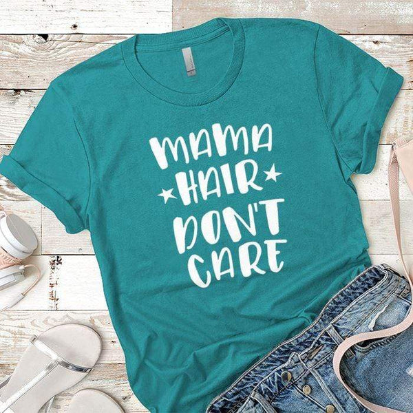 Mama Hair Premium Tees T-Shirts CustomCat Tahiti Blue X-Small