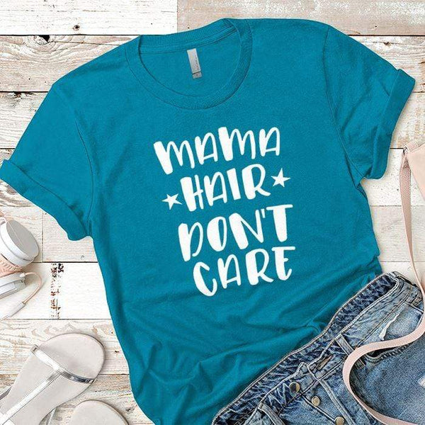 Mama Hair Premium Tees T-Shirts CustomCat Turquoise X-Small