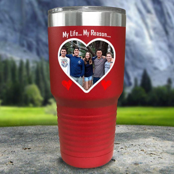 (CUSTOM) Photo Love Color Printed Tumblers Tumbler Nocturnal Coatings 30oz Tumbler Red