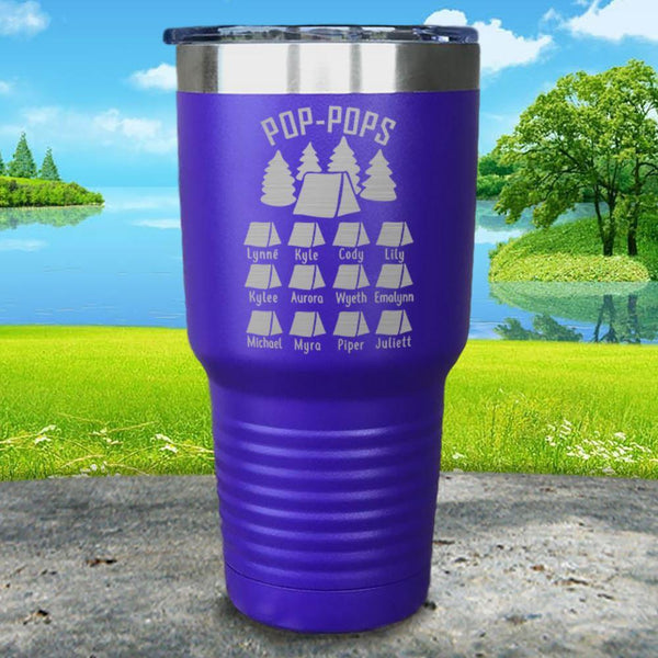 Camping (CUSTOM) Engraved Tumbler Tumbler ZLAZER 30oz Tumbler Royal Purple