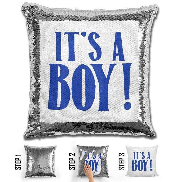 Best Gender Reveal Surprise Magic Sequin Pillow Pillow GLAM Boy