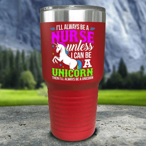 Nurse Unicorn Color Printed Tumblers Tumbler Nocturnal Coatings 30oz Tumbler Red