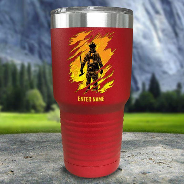 Personalized Into The Inferno Color Printed Tumblers Tumbler Nocturnal Coatings 30oz Tumbler Red