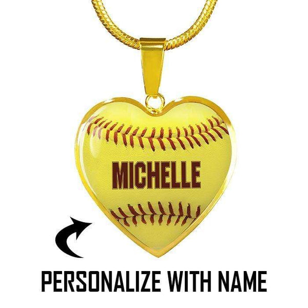 Personalized Softball Premium Necklaces & Bracelets Jewelry Lemons Are Blue