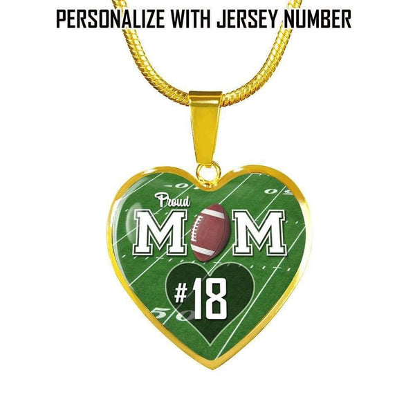 Personalized Football Mom Premium Jewelry Jewelry Lemons Are Blue Luxury Necklace Gold