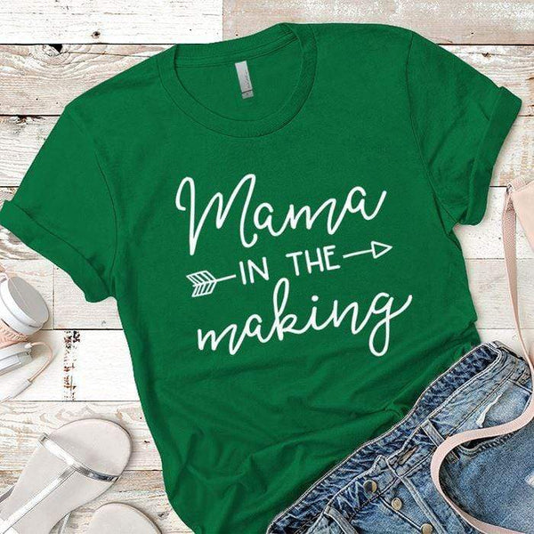 Mama in the Making Arrows Premium Tees T-Shirts CustomCat Kelly Green X-Small