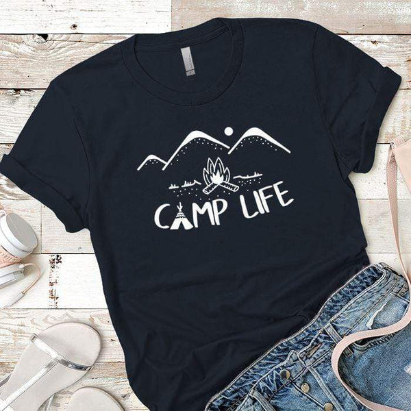 Camp Life Premium Tees T-Shirts CustomCat Midnight Navy X-Small