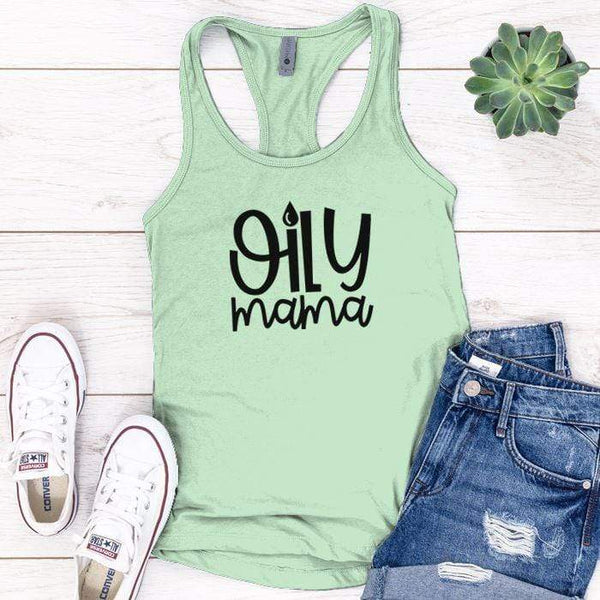 Oily Mama Premium Tank Tops Apparel Edge Minty S