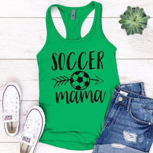 Soccer Mama Premium Tank Tops Apparel Edge Kelly Green S