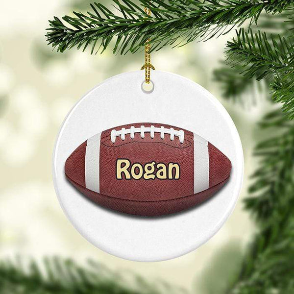 Football Personalized Ceramic Ornaments