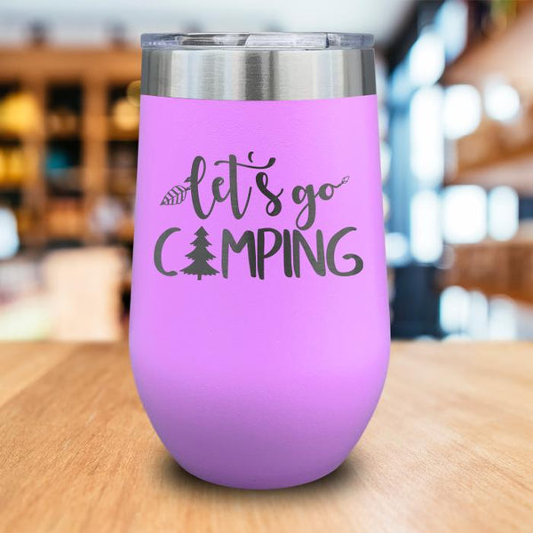 Let's Go Camping Engraved Wine Tumbler