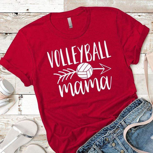 Volleyball Mama Premium Tees T-Shirts CustomCat Red X-Small