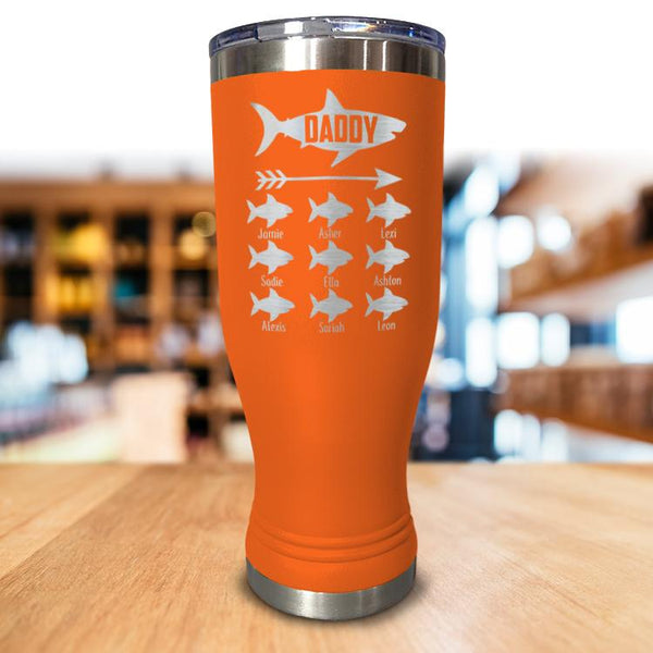 Personalized Daddy Shark Pilsner Style Tumbler