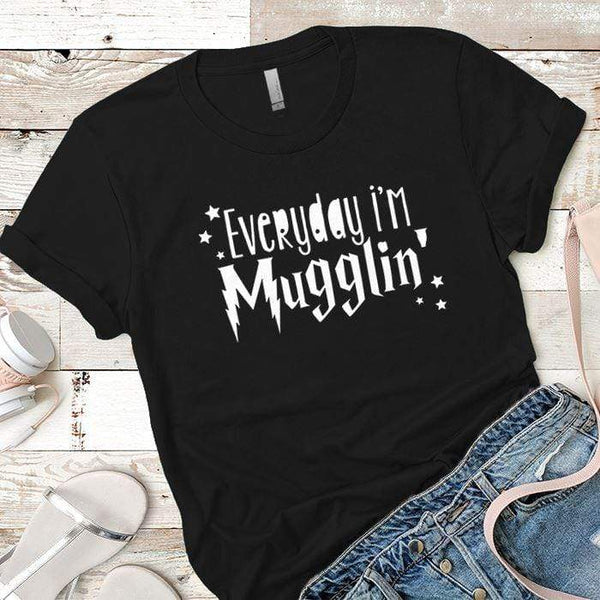 Everyday Mugglin Premium Tees T-Shirts CustomCat Black X-Small