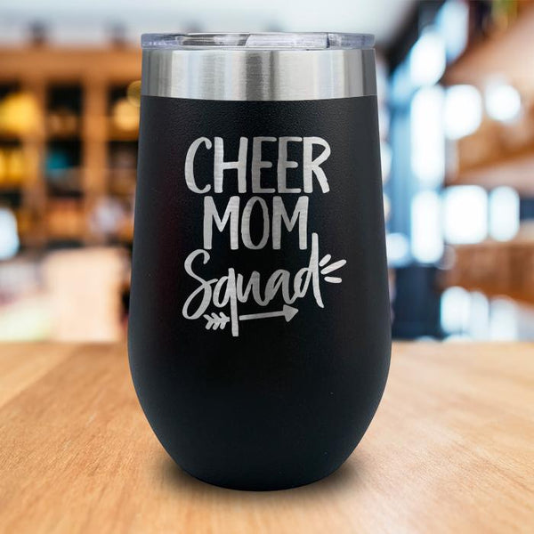 Cheer Mom Squad Engraved Wine Tumbler