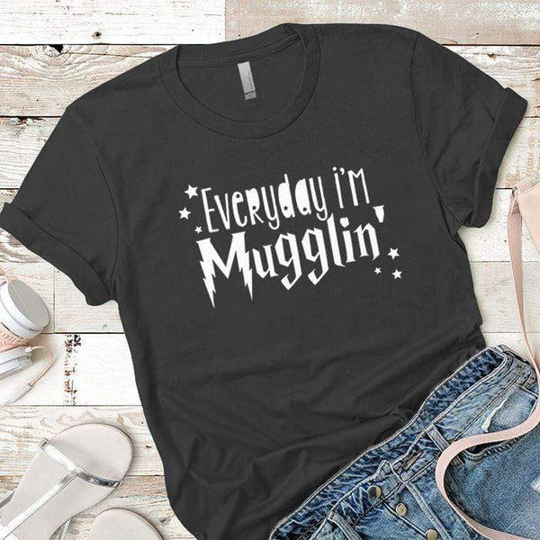Everyday Mugglin Premium Tees T-Shirts CustomCat Heavy Metal X-Small