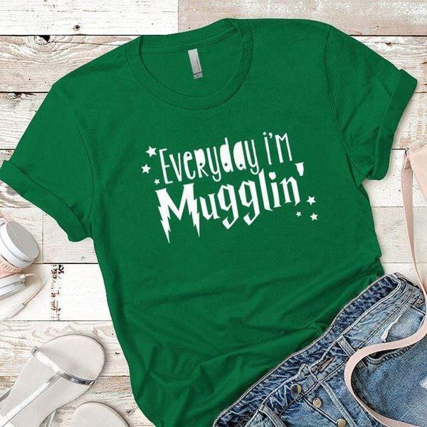 Everyday Mugglin Premium Tees T-Shirts CustomCat Kelly Green X-Small