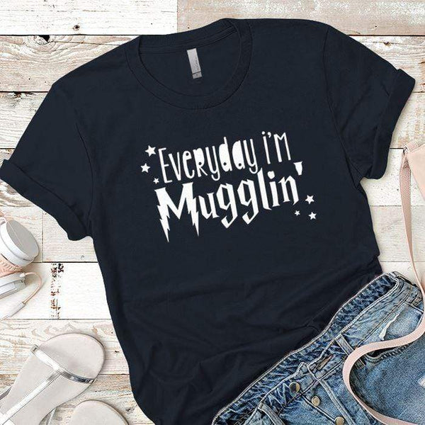 Everyday Mugglin Premium Tees T-Shirts CustomCat Midnight Navy X-Small