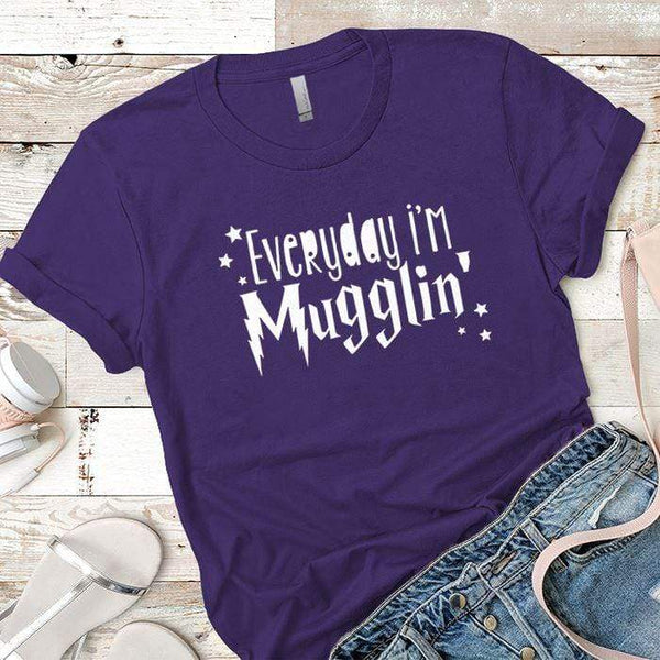Everyday Mugglin Premium Tees T-Shirts CustomCat Purple Rush/ X-Small