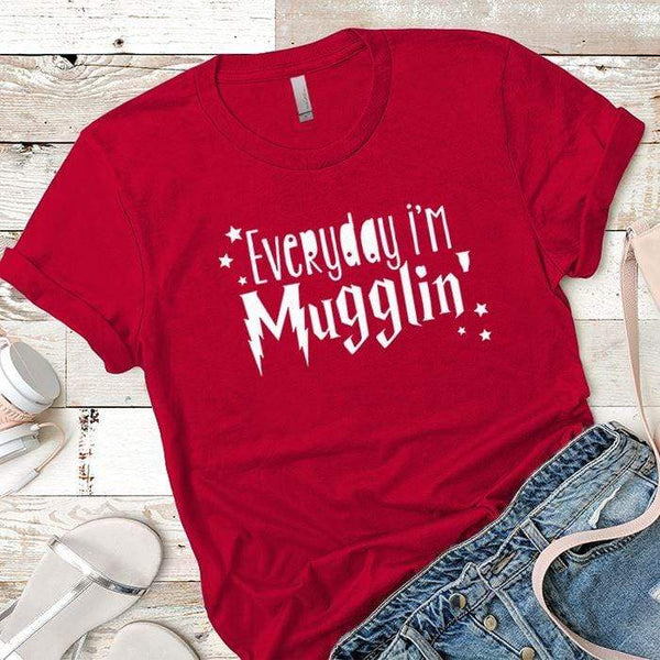 Everyday Mugglin Premium Tees T-Shirts CustomCat Red X-Small