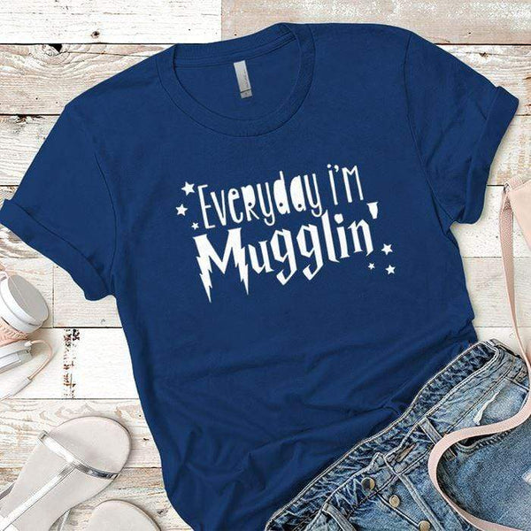 Everyday Mugglin Premium Tees T-Shirts CustomCat Royal X-Small