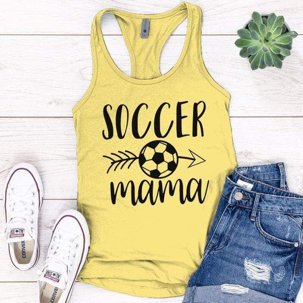 Soccer Mama Premium Tank Tops Apparel Edge Banana Cream S