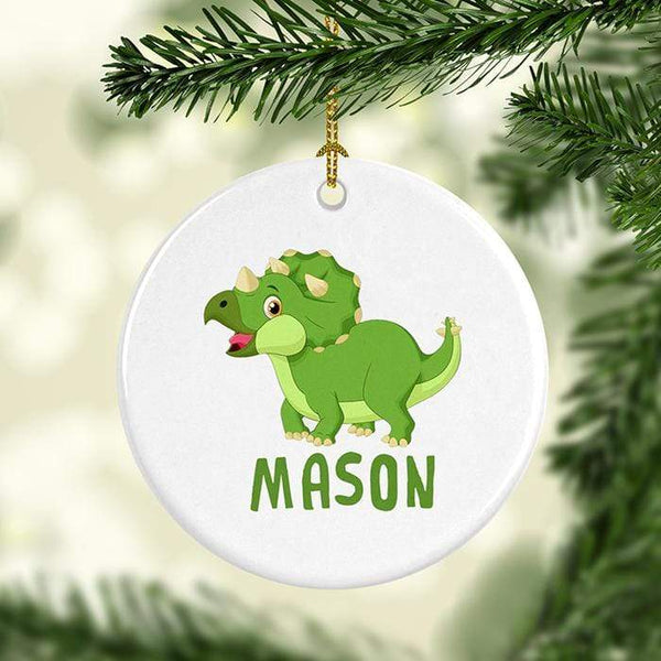 Dinosaur Personalized Ceramic Ornaments
