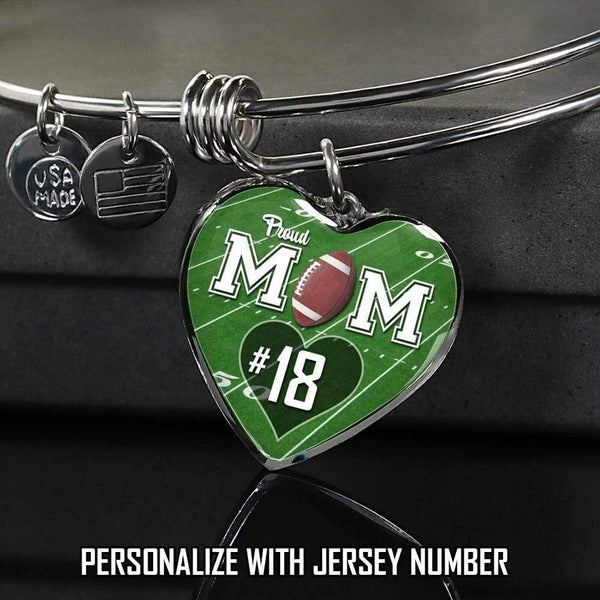 Personalized Football Mom Premium Jewelry Jewelry Lemons Are Blue Luxury Bracelet Silver
