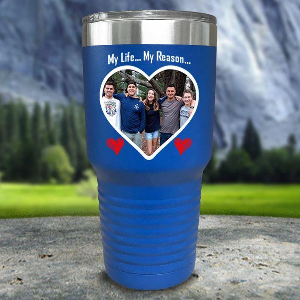 (CUSTOM) Photo Love Color Printed Tumblers Tumbler Nocturnal Coatings 30oz Tumbler Blue