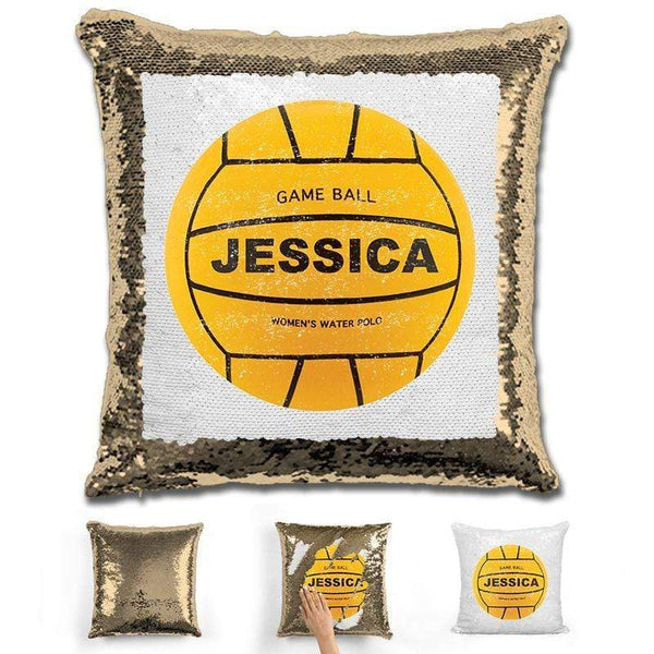Water Polo Personalized Magic Sequin Pillow Pillow GLAM Gold