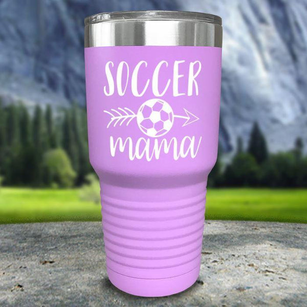 Soccer Mama Color Printed Tumblers Tumbler Nocturnal Coatings 30oz Tumbler Lavender