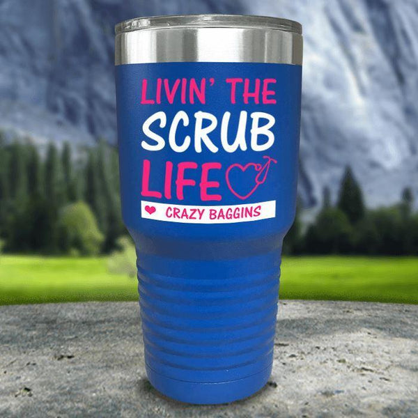 Personalized Scrub Life Color Printed Tumblers Tumbler Nocturnal Coatings 30oz Tumbler Blue
