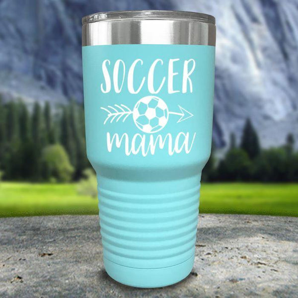 Soccer Mama Color Printed Tumblers Tumbler Nocturnal Coatings 30oz Tumbler Mint