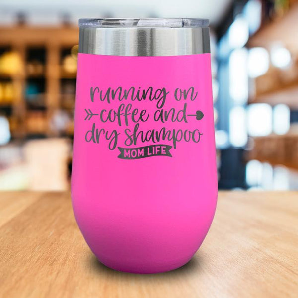 Running On Coffee Engraved Wine Tumbler