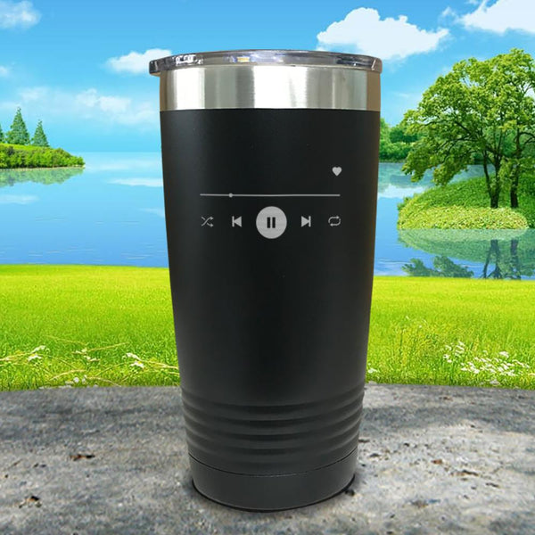 Play Button Engraved Tumbler